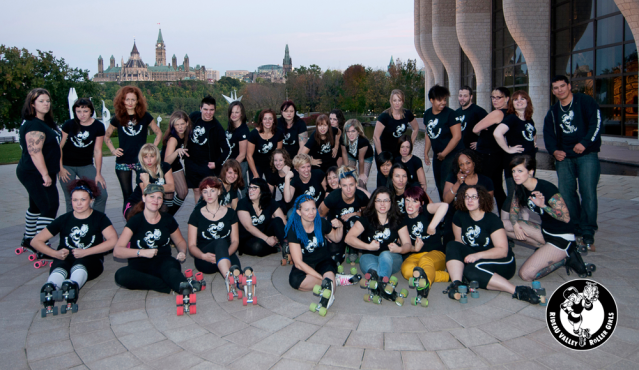 The Rideau Valley Roller Girls! Photo: Erin Ashton