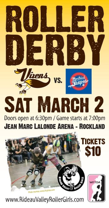 March 2nd, 2013 - Rideau Valley Vixens vs. Montreal Sexpos