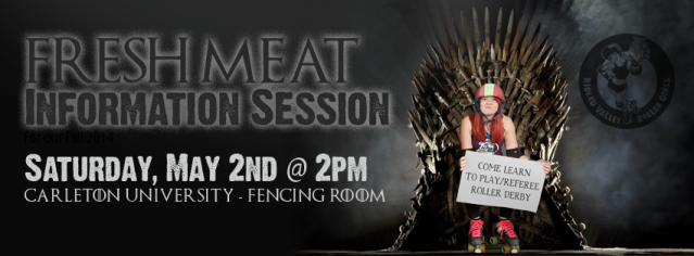 Fresh Meat Information Session on Saturday, May 2nd from 2-3pm at Carleton University's Fencing Room